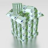 Дом от евро денег стоковая фотография rf