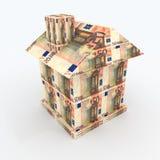 Дом от евро mone стоковое изображение