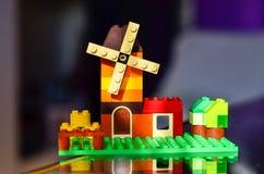 Дом от красочных кирпичей здания Стоковые Фото