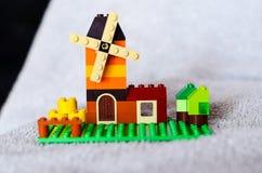 Дом от красочных кирпичей здания Стоковое Фото