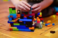 Дом от красочных кирпичей здания Стоковое Изображение