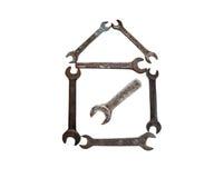Дом от ржавого ключа Стоковая Фотография