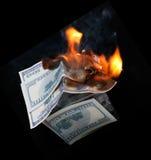 Дом доллара. пожар стоковые фотографии rf