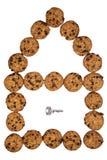 дом печений шоколада Стоковое Фото
