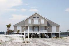 дом пляжа стоковое изображение rf