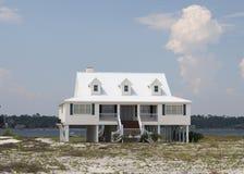дом пляжа стоковая фотография