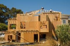Дом под конструкцией Стоковая Фотография