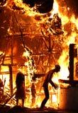 дом пожара Стоковое Изображение