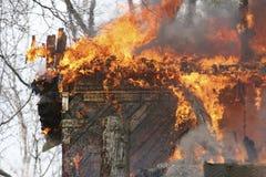 дом пожара Стоковые Изображения RF