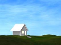 дом поля стоковые фото