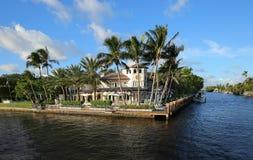 Дом портового района в Fort Lauderdale Стоковое Изображение RF