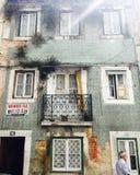 Дом Португалия Лиссабона винтажный старая стоковое фото rf