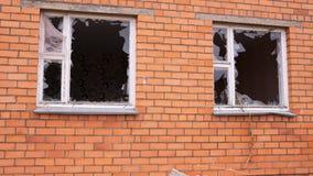 Дом после взрыва Стоковое Изображение