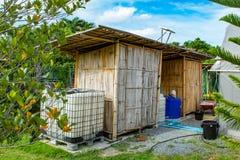 Дом построенный бамбука Стоковые Фото
