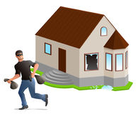 Дом похитителя человека облачённый домашний страхсбор бесплатная иллюстрация