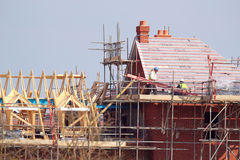 Дом под конструкцией. стоковое изображение