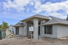 Дом под конструкцией Стоковое Изображение RF