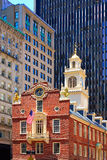 Дом положения Бостона старый в Массачусетсе стоковая фотография rf