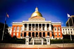 Дом положения Массачусетса, Бостон, МАМЫ Стоковые Изображения RF