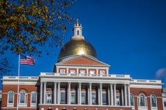 Дом положения Массачусетса - Бостон, Массачусетс, США Стоковые Фотографии RF