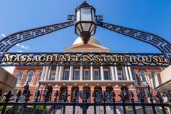 Дом положения Массачусетса в Бостоне стоковое фото rf