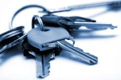 Дом пользуется ключом макрос Стоковое Фото