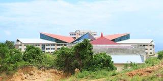 Дом правительственного учреждения в западной Папуа стоковое изображение rf