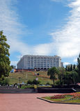 Дом правительства зоны самары Взгляд от бульвара Volzhsky samara стоковые фотографии rf