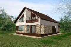 Дом представляет представление стоковое изображение rf