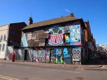 Дом предусматриванный в граффити в Бирмингеме, Англии Стоковая Фотография