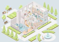 Дом престарелых Помогать-живя объект вектор Стоковое Изображение RF