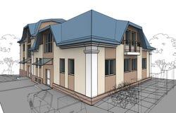 дом приватная Бесплатная Иллюстрация