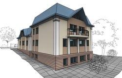 дом приватная Иллюстрация вектора