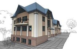 дом приватная Стоковые Фото