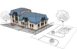 дом приватная Иллюстрация штока