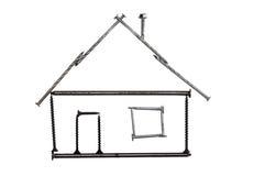 дом пригвождает символ винтов стоковое изображение rf