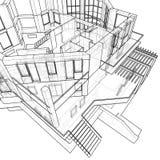 дом притяжки техническая иллюстрация вектора