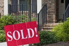 дом продал Стоковая Фотография RF