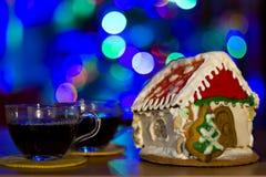 Дом пряника рождества Стоковая Фотография