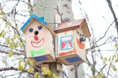 Дом птицы в парке Стоковые Фото