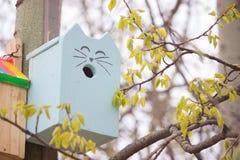 Дом птицы в парке Стоковая Фотография RF