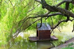 Дом птицы на озере Стоковое Фото