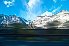 Дом путешествием задний увиденный от окна Стоковая Фотография RF