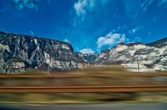 Дом путешествием задний увиденный от окна Стоковые Изображения RF