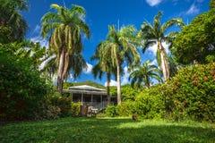 Дом плантатора в ботаническом саде Городок дороги, Tortola стоковое фото