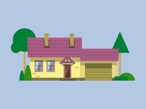 Дом плоский Стоковое Изображение RF