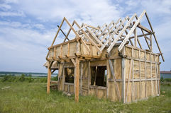 дом рамки деревянная Стоковое фото RF