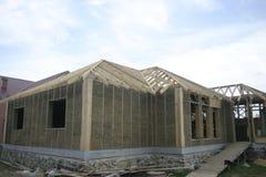Дом рамки сделанный из соломы Стоковые Изображения