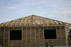 Дом рамки сделанный из соломы Стоковое фото RF