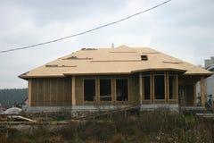 Дом рамки сделанный из соломы Стоковое Фото